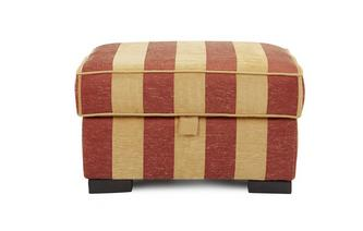 Stripe Storage Footstool