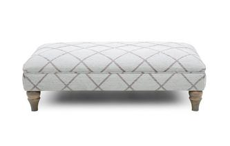 Diamond Banquette Foostool