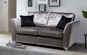 Lanson 2 Seater Formal Back Deluxe Sofa Bed Krystal
