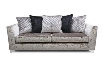 4 Seater Pillow Back Sofa Krystal