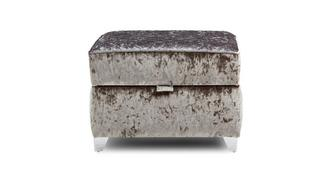Lanson Quilted Top Storage Footstool