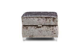 Quilted Top Storage Footstool Krystal