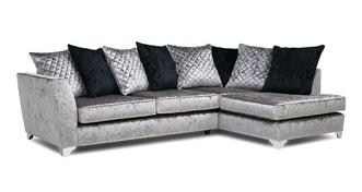 Lanson Left Hand Facing Pillow Back Corner Sofa