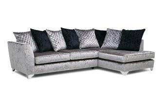 Left Hand Facing Pillow Back Corner Sofa