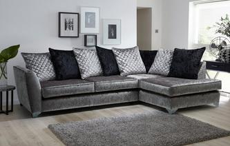 Lanson Left Hand Facing Pillow Back Corner Sofa Krystal
