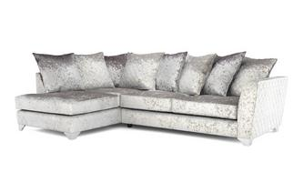 Lanson Right Hand Facing Pillow Back Corner Sofa Krystal