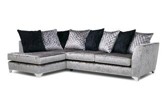 Right Hand Facing Pillow Back Corner Sofa Krystal