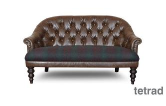 Buttoned High Back 2 Seater Sofa