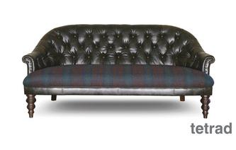 Buttoned High Back 3 Seater Sofa