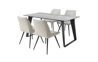 Large Fixed Top Dining Table & 4 Dining Chairs