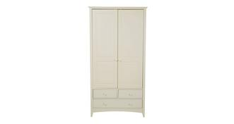 Laurence Wardrobe with 2 Doors and 3 Drawers