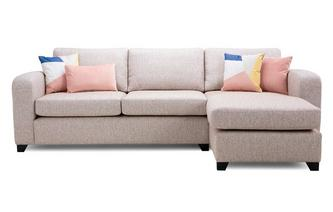 Casual Right Hand Facing Chaise End 3 Seater Sofa