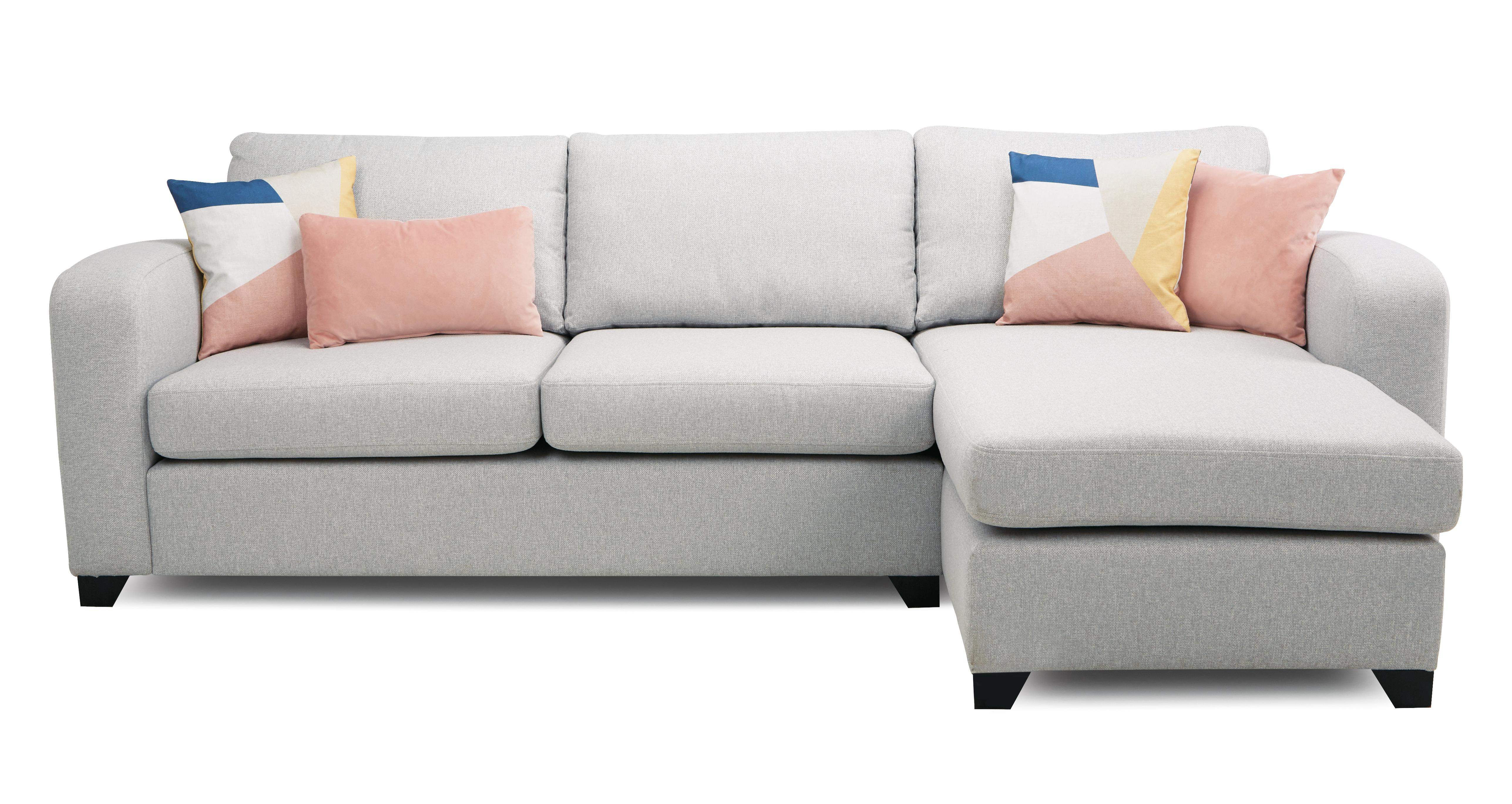 Layla Right Hand Facing Chaise End 3 Seater Sofa Layla Plain Dfs