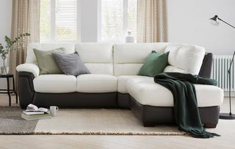 Lazaro Option A Left Hand Facing Arm 2 Piece Corner Sofa Essential