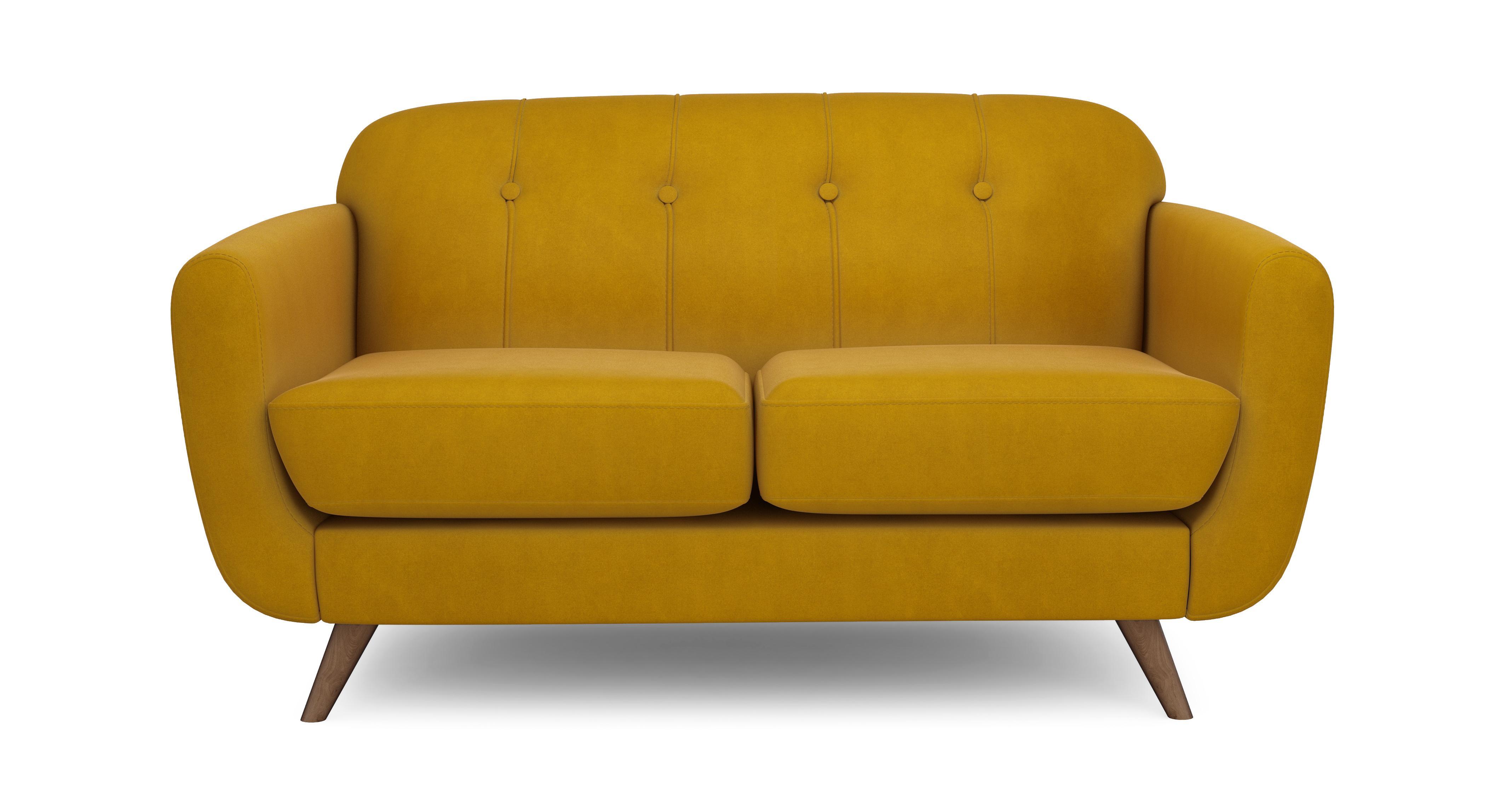 Attractive Laze Compact Sofa Velvet | DFS CR55