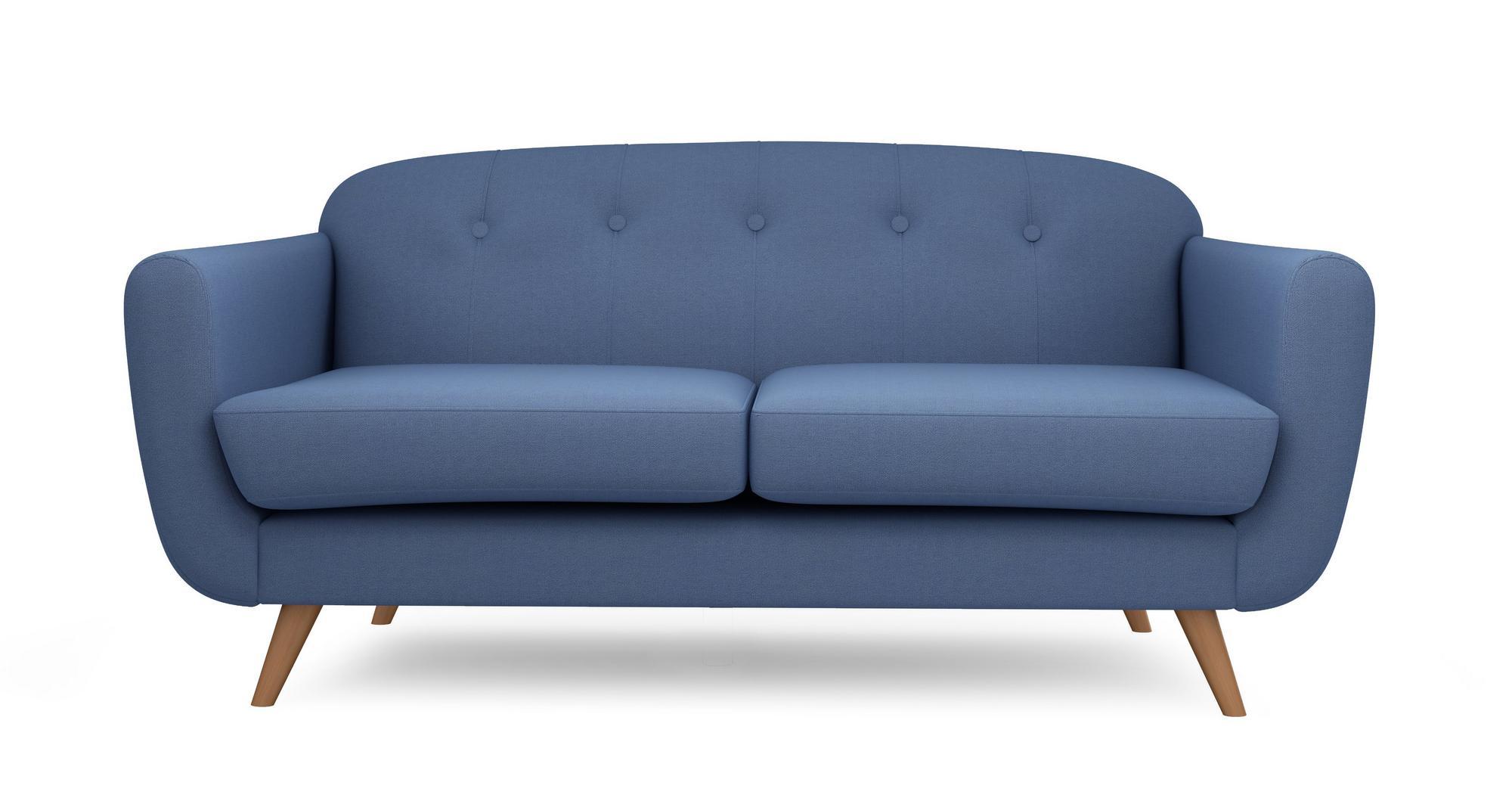 Dfs Laze Blue Fabric Large Sofa Ebay