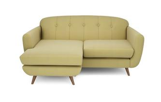 Linkszijdige grote lounger Brushed Plain