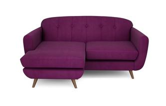 Laze Left Hand Facing Large Lounger Velvet