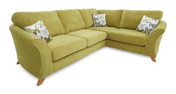 Lelani Left Hand Facing 3 Seater Formal Back Corner Sofa
