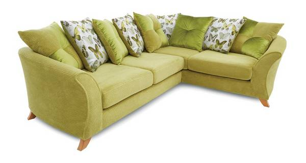 Lelani Left Hand Facing 3 Seater Pillow Back Corner Sofa
