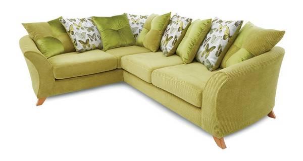 Lelani Right Hand Facing 3 Seater Pillow Back Corner Sofa