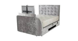 Leona Double (4ft 6) Ottoman TV Bedframe