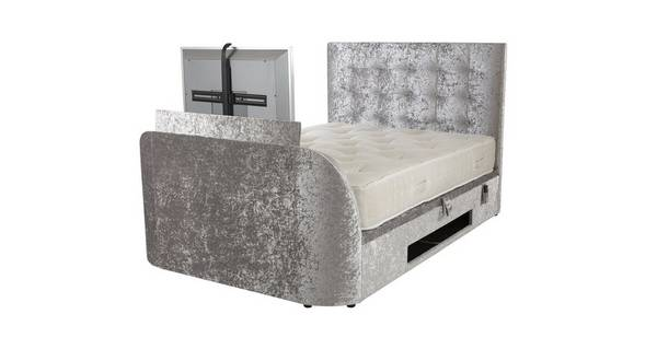 Leona King Size Ottoman Tv Bedframe, Queen Size Tv Bed