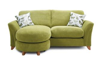 Formal Back 3 Seater Lounger Sofa Leonie
