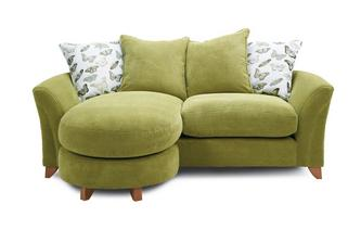 Pillow Back 3 Seater Lounger Sofa Leonie