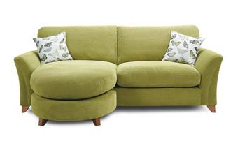 Formal Back 4 Seater Lounger Sofa Leonie