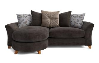 Leonie Pillow Back 4 Seater Lounger Sofa Leonie