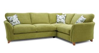Leonie Formal Back Left Hand Facing 3 Seater Corner Sofa