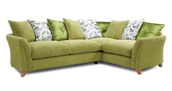 Leonie Pillow Back Left Hand Facing 3 Seater Corner Sofa