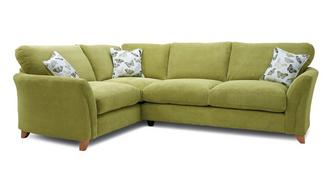 Leonie Formal Back Right Hand Facing 3 Seater Corner Sofa