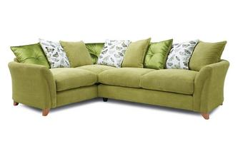 Pillow Back Right Hand Facing 3 Seater Corner Sofa Leonie