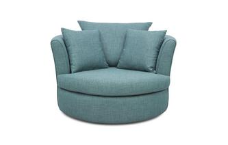 Large Swivel Chair with 2 Plain Scatters