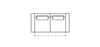 Levin 2.5-zits elektrische recliner