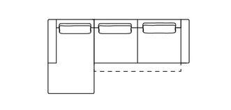 Levin Linkszijdige 3-zits chaise bank met elektrische recliner