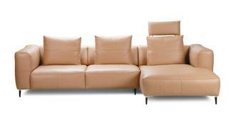 Levin Rechtszijdige 2.5-zits chaise bank met elektrische recliner