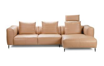 Rechtszijdige 2.5-zits chaise bank met elektrische recliner Skagen
