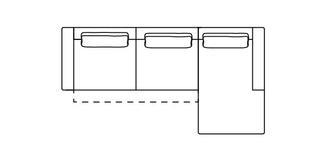 Levin Rechtszijdige 3-zits chaise bank met elektrische recliner