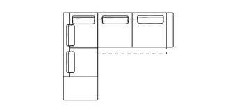 Levin Rechtszijdige 3-zits hoekbank met elektrische recliner