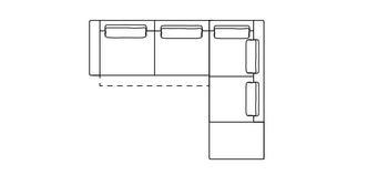 Levin Linkszijdige 3-zits hoekbank met elektrische recliner