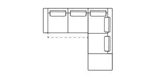 Levin Linkszijdige 2.5-zits hoekbank met elektrische recliner