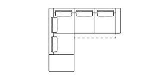 Levin Rechtszijdige 2.5-zits hoekbank met elektrische recliner