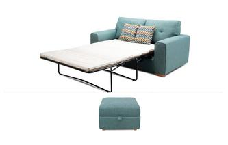 2 Seater Sofabed & Storage Footstool