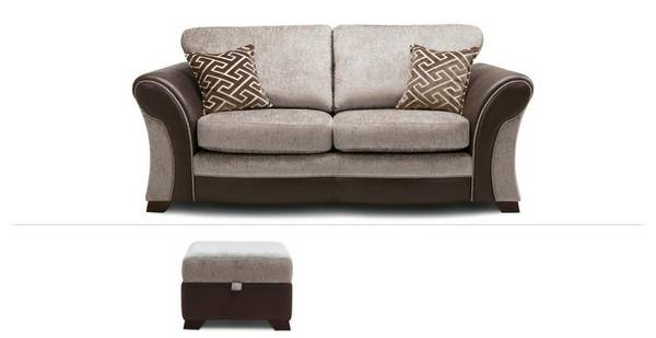 Leyland Clearance 2 Seater Sofabed & Footstool