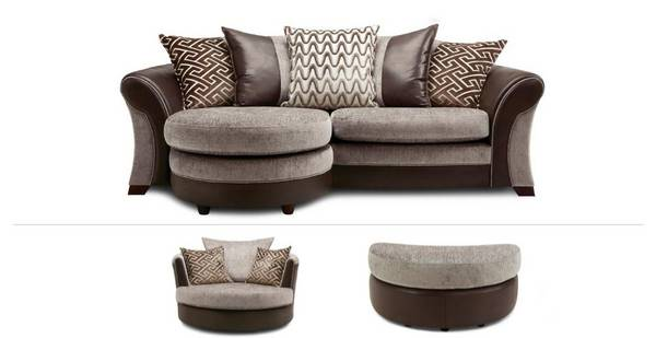 Leyland Clearance 4 Seater Lounger Sofa, Swivel Chair & Footstool