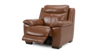 Liaison leder en lederlook Handbediende recliner stoel
