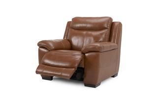 Leather and Leather Look Electric Recliner Chair Brazil with Leather Look Fabric
